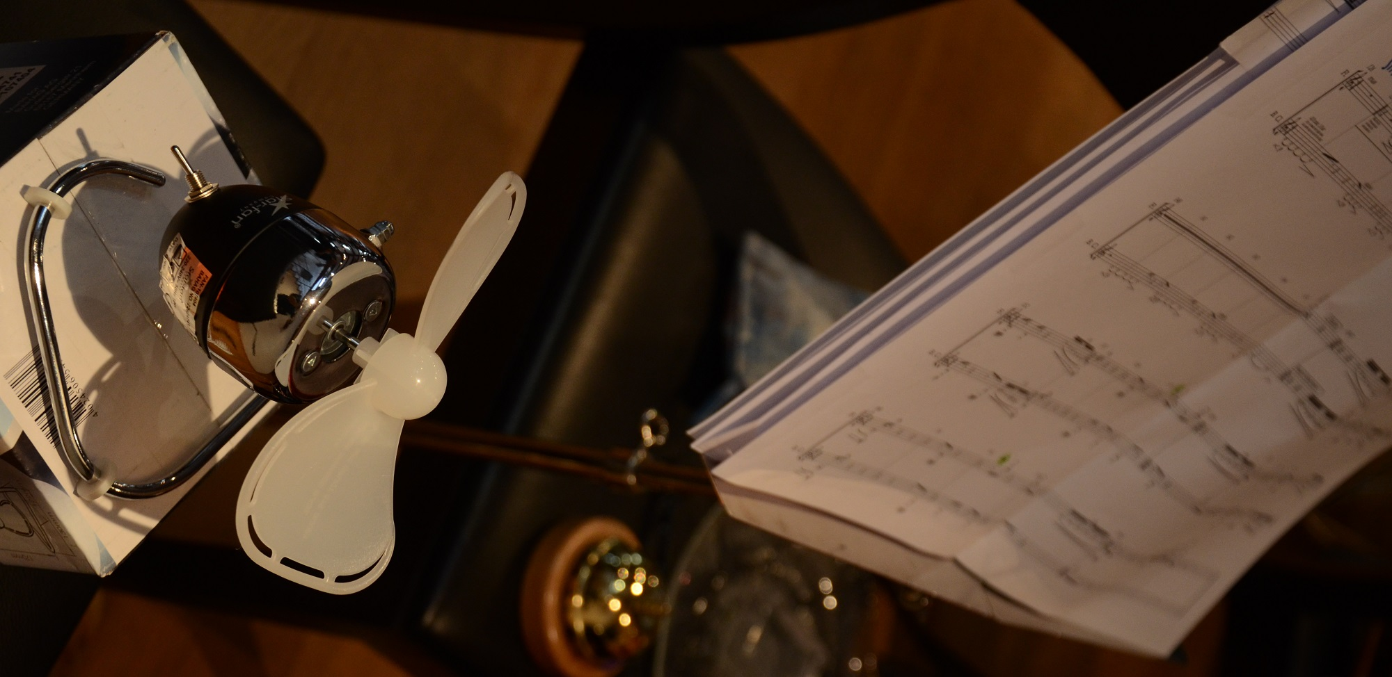 Der Ventilator wird zum Musikinstrument - Proben des neuen Stücks von Ricardo Eizirik