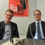 Claude Grosjean (GLP) und Christoph Zimmerli (FDP)
