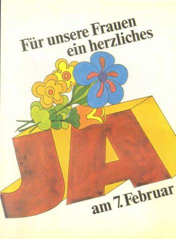Abstimmungsplakat 1971 (Facebook Gosteli Stiftung)