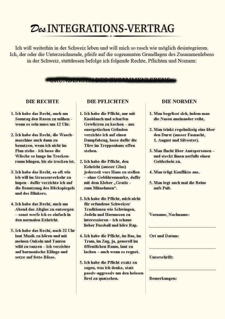 desIntegrations-Vertrag