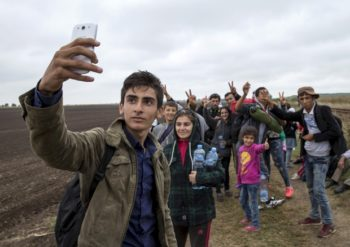 refugee mobile phone
