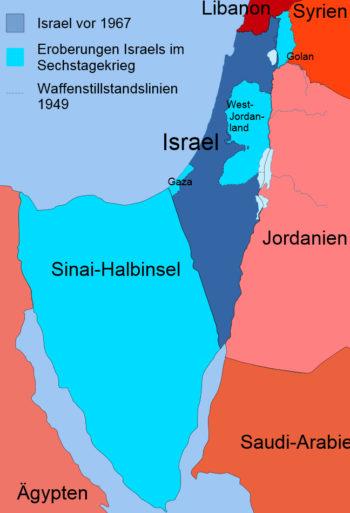 israel_nach_Sechstagekrieg