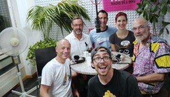 Rolf, René, Alex (GAYRADIO), Barbara und Max, sowie Fabio (GAYRADIO) vorne