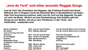 """Inna de Yard"" and other acoustic Reggae Songs"