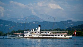 Dampfschiff Stadt Luzern, Luzern, Schweiz. Stadt Luzern Steamship, Lucerne, Switzerland.