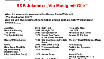 "R&B Jukebox- ""Viu Musig mit Gliir"""
