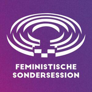 Feministische Sondersession in der Grossen Halle zum Thema Care-Arbeit Lobby von Frauen Eidgenössische Komission dini Mueter