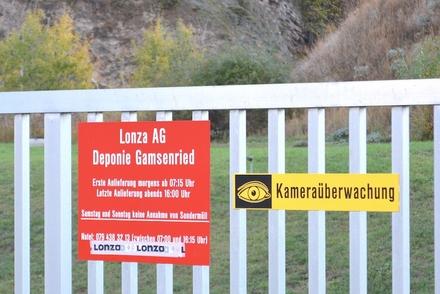 Die Deponie Gamsenried, wo bei der Lonza AG 2008 giftiges Benzidin ausfloss, wie infosperber und Oekoskop herausfanden