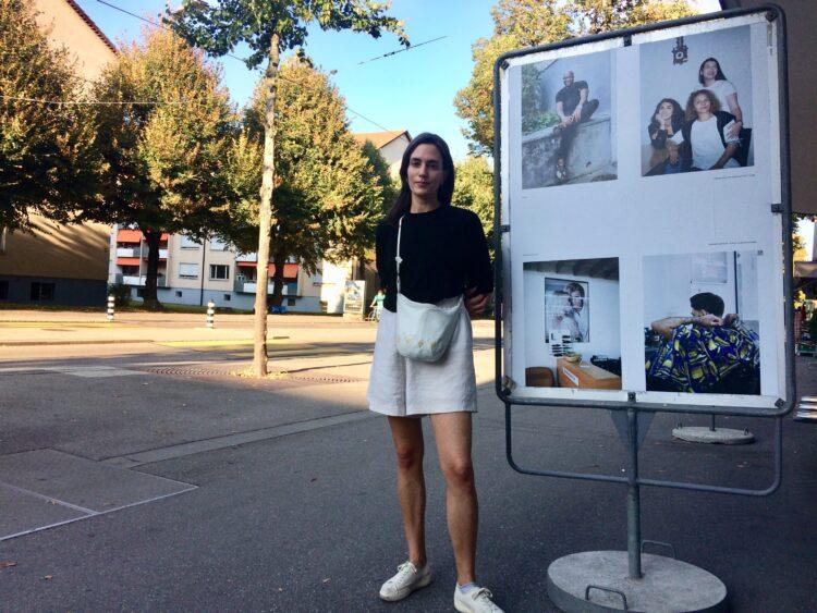 Mit Fotografin Viviane Stucki entlang der Schlossstrasse eine Fotoreportage über die Menschen im Quartier Holligen mit viel Migrationshintergrund