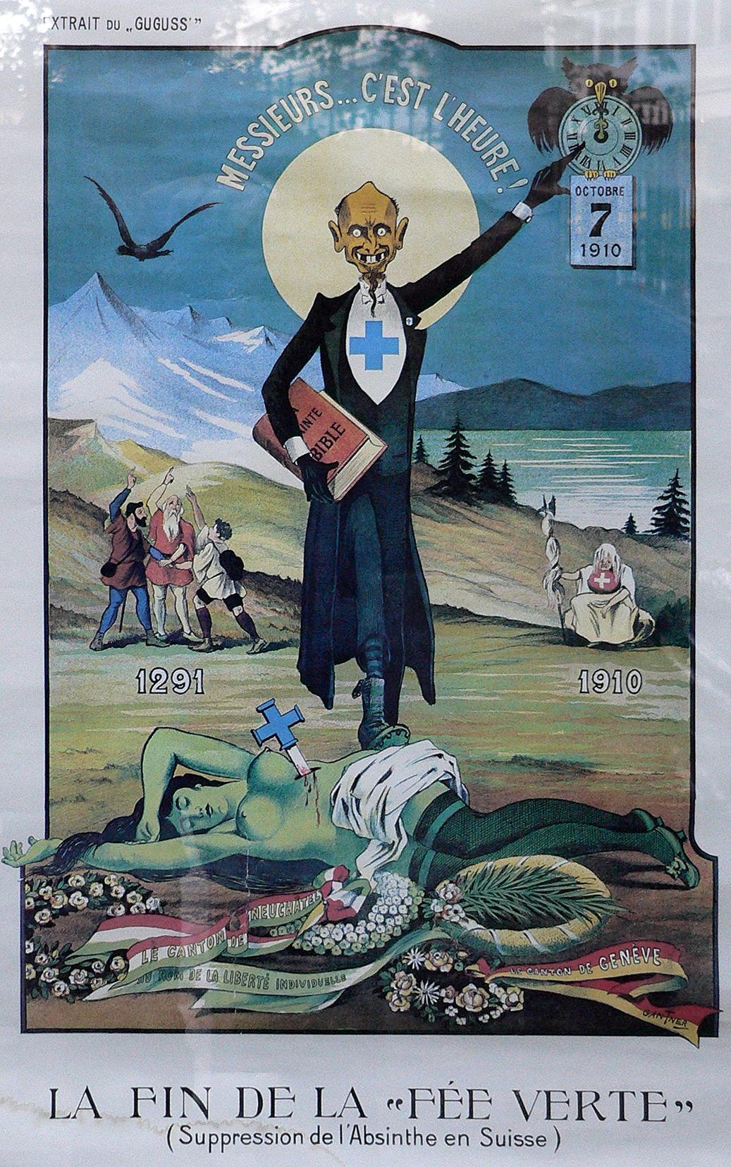 1910 wurde Absinth in der Schweiz verboten