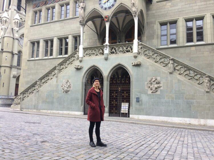 Eva Gammenthaler kandidiert auf der Liste der Alternativen Linken (AL) für eine Wiederwahl in den Stadtrat am 29. November bei den Gemeindewahlen in Bern