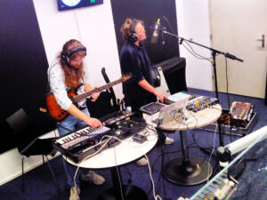 Mischgewebe live im Studio von Radio Bern (RaBe)