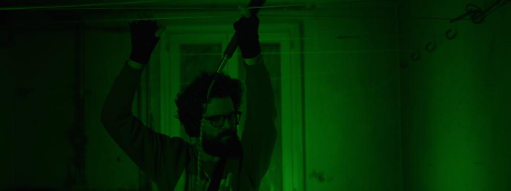 Sean Wirz bei den Dreharbeiten zu seinem Kurzfilm Unleash