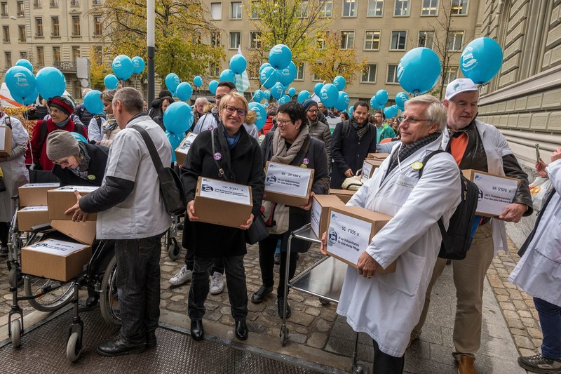 Im November 2017 wurde die Pflegeinitiative im Berner Bundeshaus eingereicht