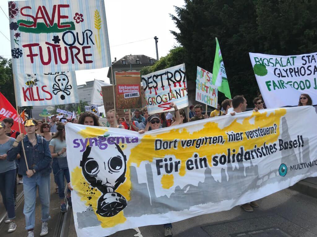 Gemeinsam gegen Multis: Der March against Bayer und Syngenta in Basel 2018